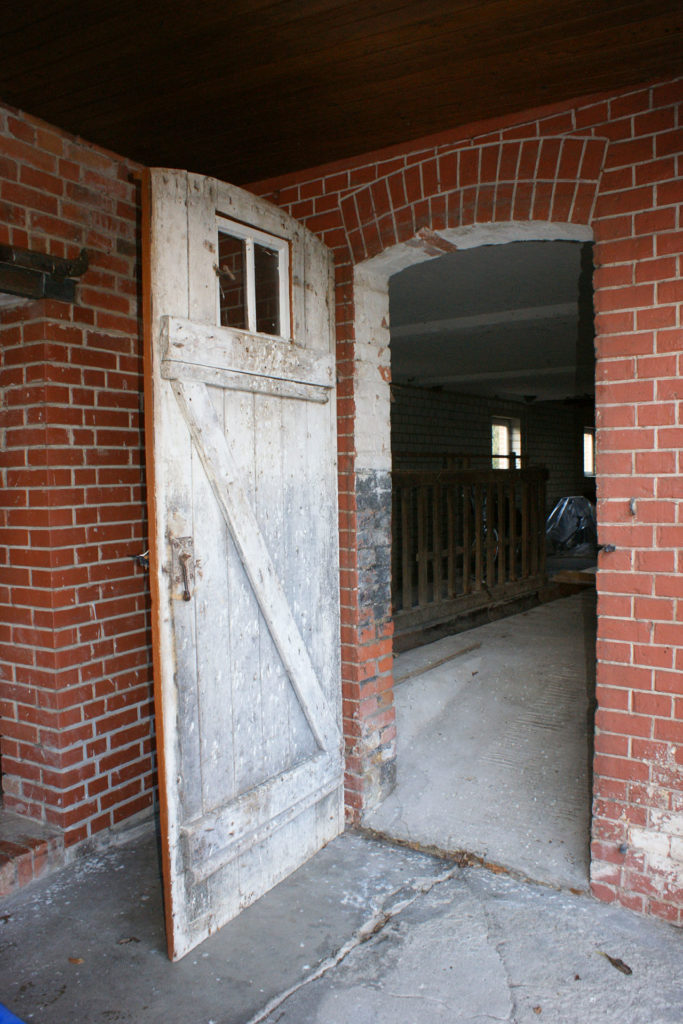 Der alte Eingang zum Stall